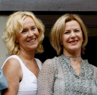 Agnetha and Frida at the Swedish Mamma Mia! premiere